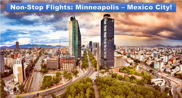 Direct Flights to and from Mexico City! Call us today for the best rates! (612) 721-2288 We match prices!